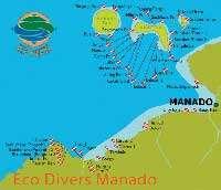 Bunaken and Manado Dive Sites's Map