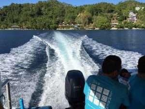 Fast boat to Bunaken