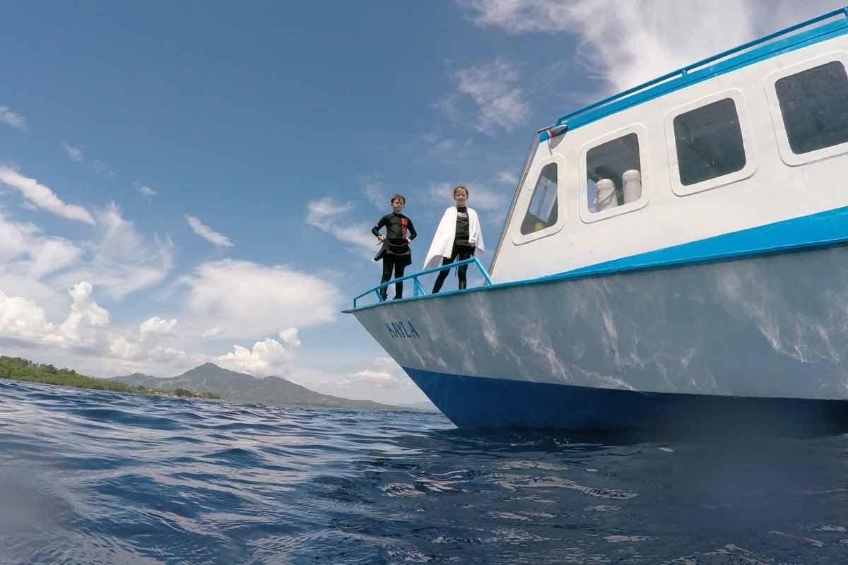 Our boat Kayla around Bunaken Island