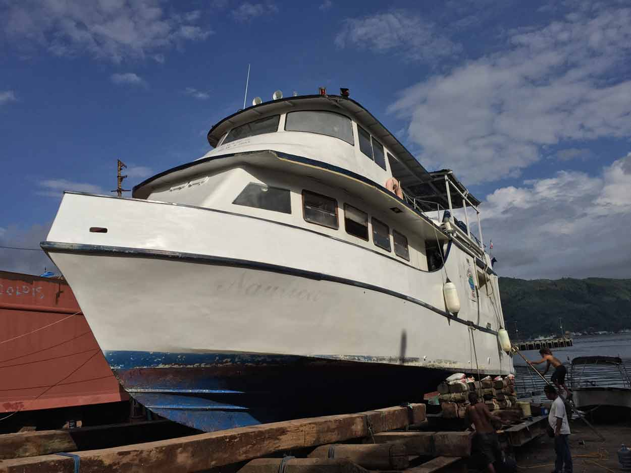 MV. Nautica on dry-dock
