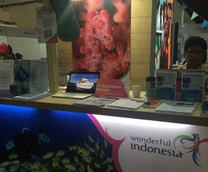 Our desk at Indonesian Pavilion