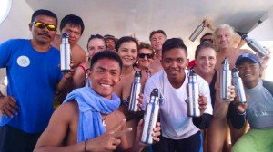 Manado Team with our nice group of divers from Spain