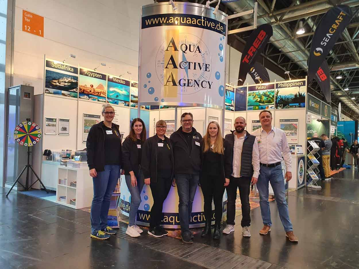 The Aqua Active Agency team at Boot 2020
