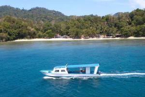 The diving boat and the resort